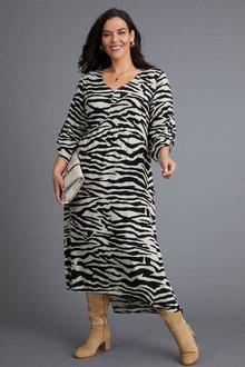 Sara Angled Panel Dress - 256947