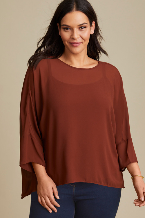 Sara Hi-Low Shell Top