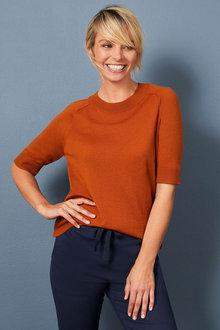 Capture Merino Short Sleeved Sweater - 256959