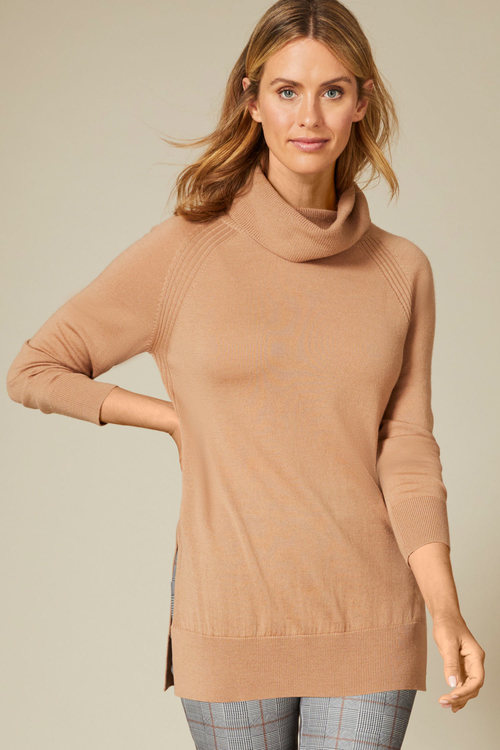 Capture Merino Cowl Neck Sweater