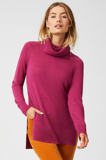 Capture Merino Cowl Neck Sweater - 256965