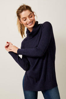 Capture Merino Cowl Neck Sweater - 256965