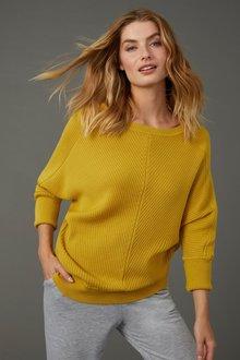 Capture Merino Ribbed Dolman Sweater - 256966