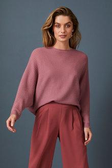 Capture Merino Ribbed Dolman Sweater - 256968