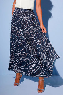 Euro Edit Printed Maxi Skirt - 256975