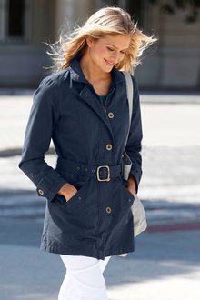 Euro Edit Belted Trench Coat - 256978
