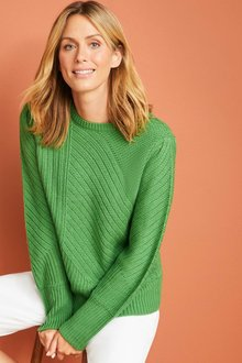 Capture Rib Patterned Sweater - 256988