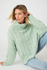 Capture Cable Knit Roll Neck
