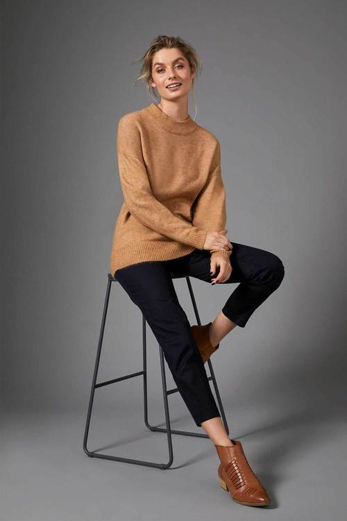 Capture HighNeck Drop Shoulder Sweater