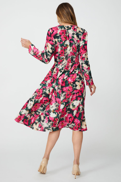 Grace Hill Button Front Midi Dress