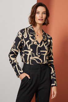 Grace Hill Printed Shirt - 257015