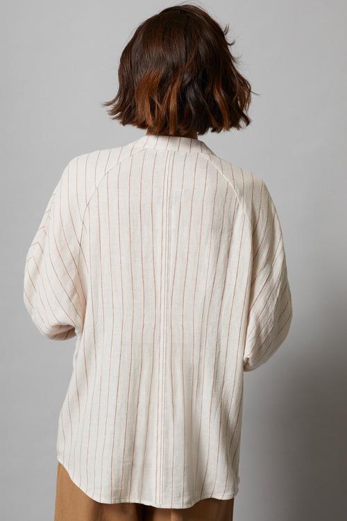 Grace Hill Linen Blend Stripe Top