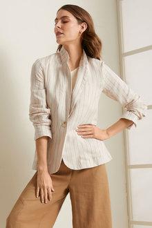 Grace Hill Linen Blend Blazer - 257017