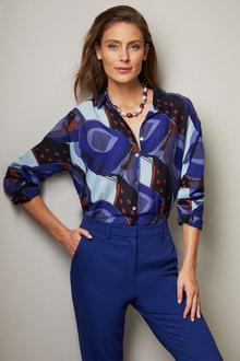 Grace Hill Silk Blend Shirt - 257019