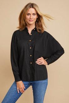 Grace Hill Linen Blend Button Shirt - 257024