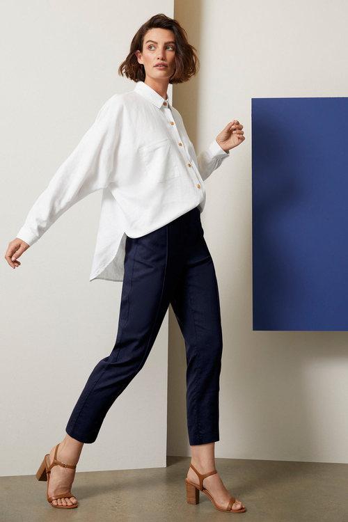 Grace Hill Linen Blend Button Shirt