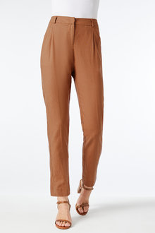Grace Hill Linen Blend Tapered Pants - 257026