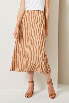 Grace Hill Linen Blend Skirt - 257028