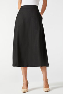 Grace Hill Linen Blend Skirt - 257028
