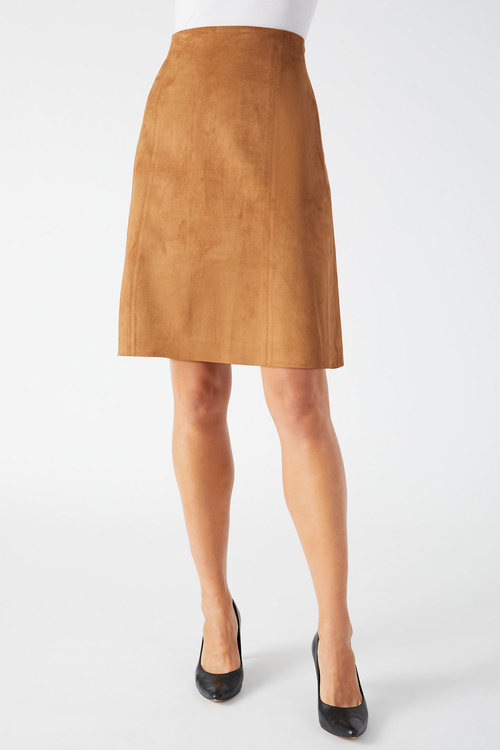 Capture Suedette A Line Skirt