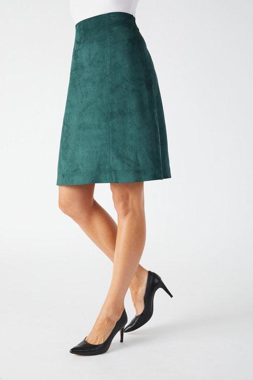 Capture Suedette A Line Skirt