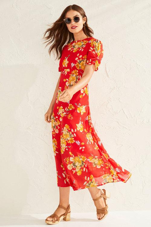 Capture Chiffon Tiered Maxi Dress