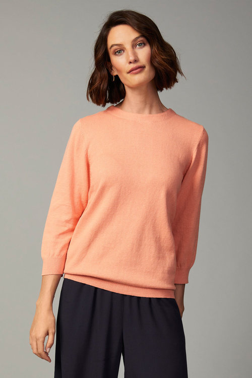 Grace Hill Cashmere Blend Button Sweater