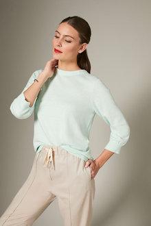 Grace Hill Cashmere Blend Button Sweater - 257055