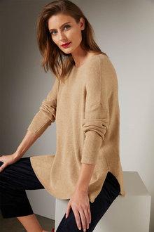 Grace Hill Cashmere Blend Boxy Sweater - 257056