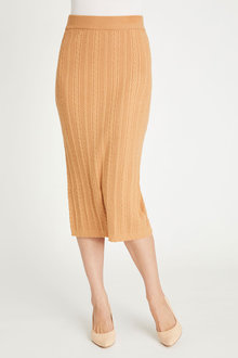 Grace Hill Cable Knit Skirt - 257060