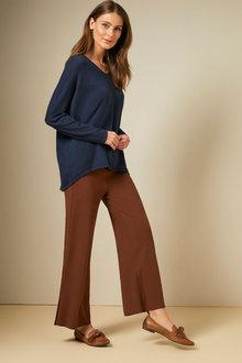 Grace Hill Knit Wide Leg Pant - 257061