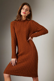 Grace Hill Cable Knit Dress - 257062