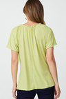 Capture Linen Tie Neck Tee