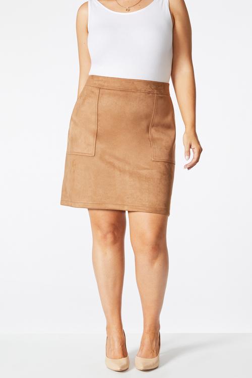 Sara Faux Suede Skirt