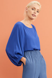 Emerge Balloon Sleeve Blouse - 257095