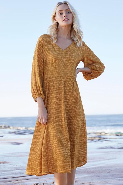 Emerge V Neck Midi Dress