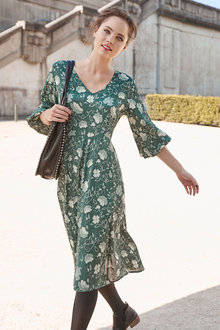 Emerge V Neck Midi Dress - 257096