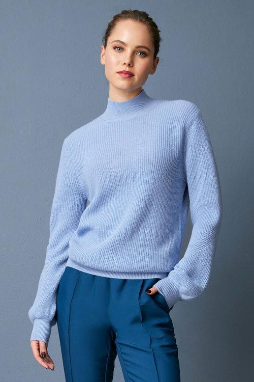 Emerge Merino Ribbed HighNeck Sweater