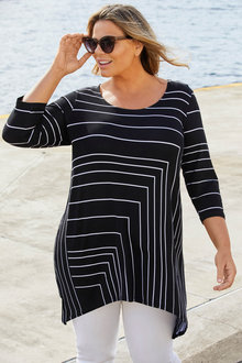Plus Size - Striped Tunic - 257106