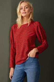 Emerge Statement Sleeve Top - 257119