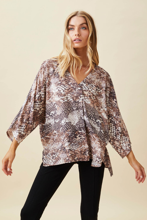 Capture V Neck Drapey Top