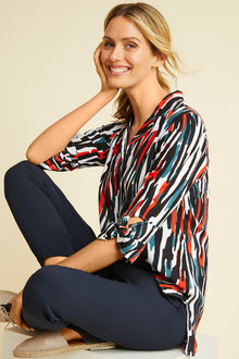 Capture Knot Cuff Detail Shirt - 257138