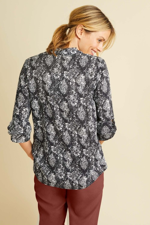 Capture Knot Cuff Detail Shirt