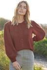 Capture Pintuck Shirred Sleeve Shirt