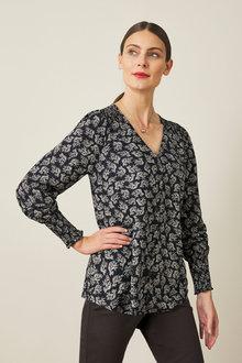 Capture Shirred Cuff Shirt - 257142