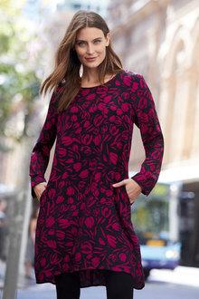 Capture Long Sleeve Shift Dress - 257145