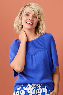 Emerge Stitch Detail Knit Top - 257155