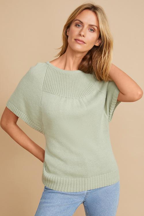 Emerge Stitch Detail Knit Top