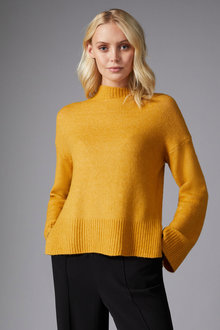 Emerge High Neck Rib Sweater - 257156