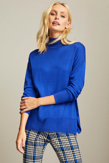 Emerge High Neck Long Sleeve Knit - 257157